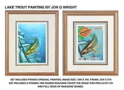 Lake Trout Original Poster by Jon Q Wright