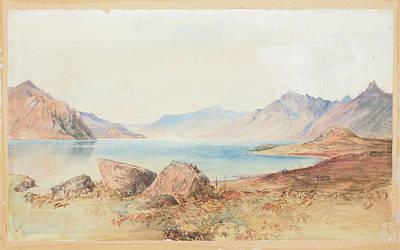 Lake Wakatipu Poster by Nicholas Chevalier