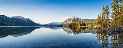 Lake Wenatchee Panorama Poster by Jamie Pham
