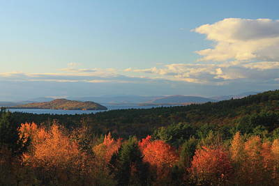 Lake Winnipesaukee Overlook In Autumn Poster