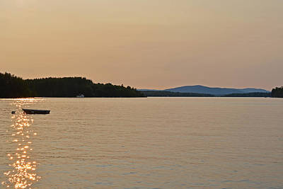 Lake Winnipesaukee Row Boat Sunset Poster