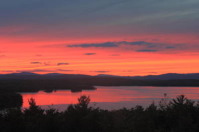 Lake Winnipesaukee Sunset  Poster