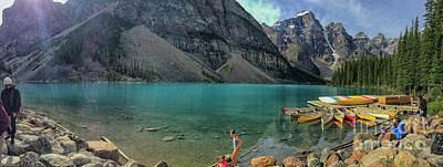 Lake With Kayaks Poster