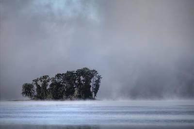 Lake Wylie Foggy Morning Poster by Dustin K Ryan