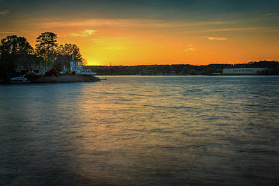 Lake Wylie Sunset Poster by Michael Svach