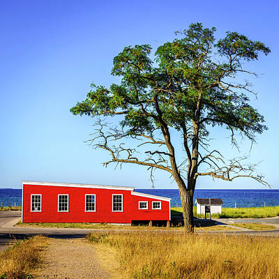 Poster featuring the photograph Lakefront In Glen Arbor by Alexey Stiop
