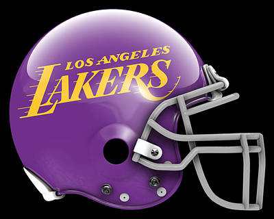 Lakers What If Its Football Poster
