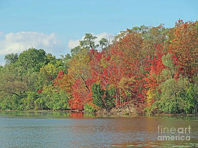 Lakeside Autumn Poster