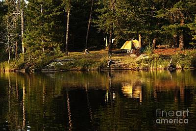 Lakeside Campsite Poster by Larry Ricker