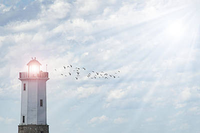 Poster featuring the photograph Lakeside Park Lighthouse by Joel Witmeyer