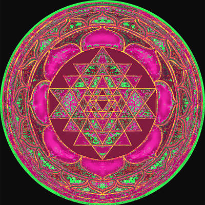 Lakshmi Yantra Mandala Poster