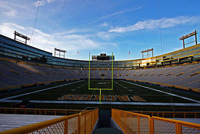 Lambeau Endzone Two Poster by Ty Helbach