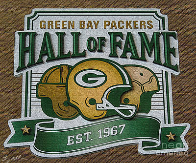 Lambeau Field - Hall Of Fame - Oil Poster by Tommy Anderson