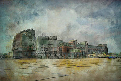 Poster featuring the photograph Lambeau Field Watercolor by Joel Witmeyer