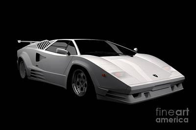 Lamborghini Countach 5000 Qv 25th Anniversary Poster