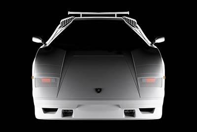 Lamborghini Countach 5000 Qv 25th Anniversary - Front View  Poster