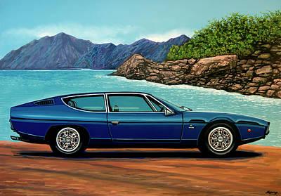 Lamborghini Espada 1968 Painting Poster