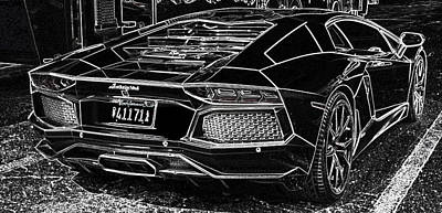 Lamborghini Test Drive Poster by Don Columbus