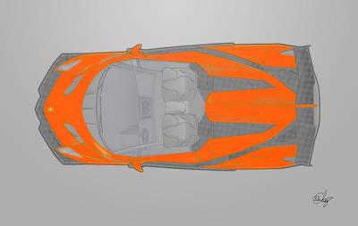 Lamborghini Veneno Orange Poster
