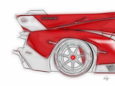 Lamborghini Veneno Red Dream Poster