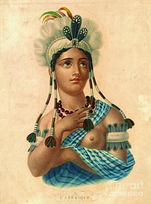 L'amerique 1820 Poster by Padre Art
