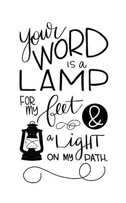Lamp Poster by Nancy Ingersoll