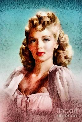 Lana Turner, Vintage Actress Poster by John Springfield