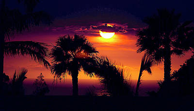 Lanai Sunset Poster