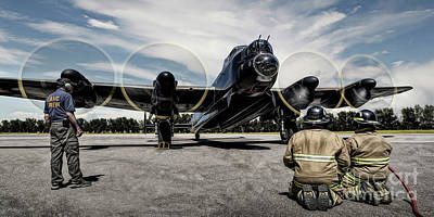 Poster featuring the photograph Lancaster Engine Test by Brad Allen Fine Art