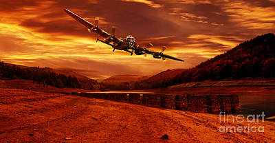 Lancaster Over Ouzelden Poster by Nigel Hatton