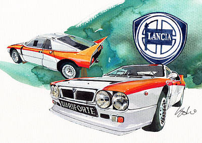 Lancia 037 Poster by Yoshiharu Miyakawa