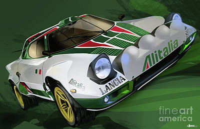 Lancia Stratos Hf Rally Car Poster