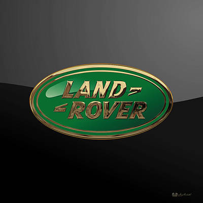 Land Rover - 3d Badge On Black Poster