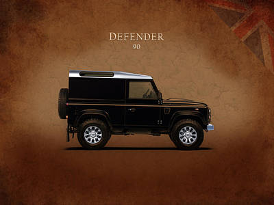 Land Rover Defender 90 Poster by Mark Rogan