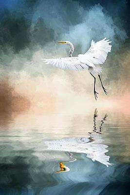 Landing At Dawn Poster by Cyndy Doty