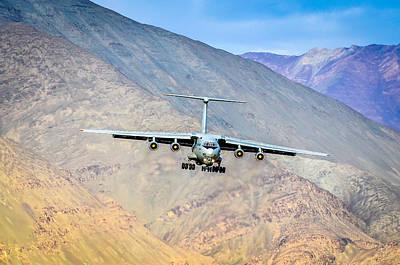 Landing At Leh Poster by Krishnaraj Palaniswamy