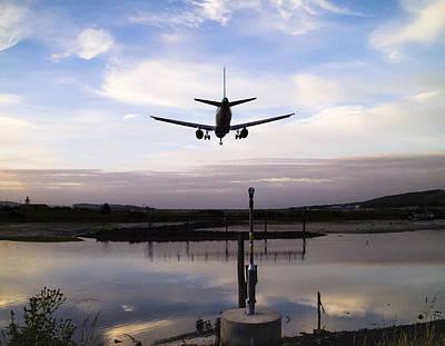 Landing In George Best Poster