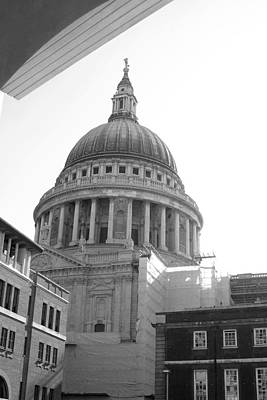 Poster featuring the photograph Landing On St Pauls by Jez C Self