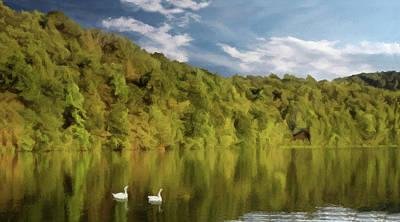 Poster featuring the photograph Landingville Lake Pennsylvania by David Dehner