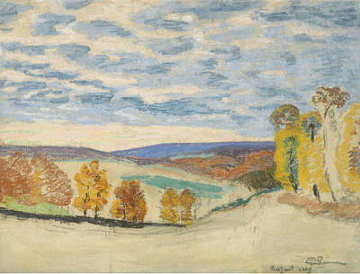 Landscape At Crozant Poster by Armand Guillaumin