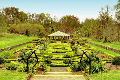 Landscape At Deep Cut Gardens Middletown New Jersey Poster by Geraldine Scull