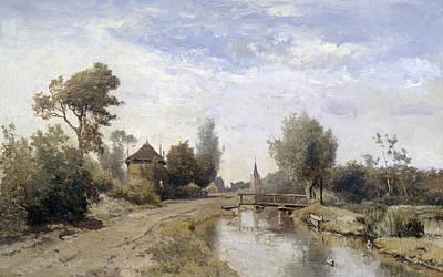 Landscape At Kortenhoef Poster by Paul Gabriel