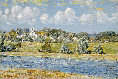Landscape At Newfields, New Hampshire Poster by Childe Hassam