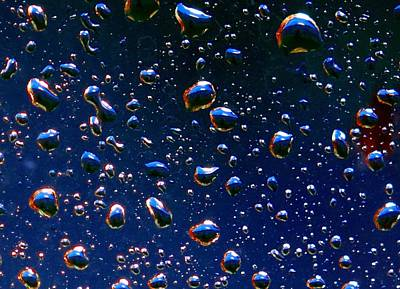 Poster featuring the photograph Landscape Bubbles by Marianne Dow