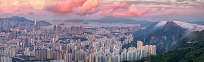 Landscape For Hong Kong City Poster by Anek Suwannaphoom