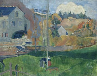 Landscape In Brittany, The David Mill Poster by Paul Gauguin
