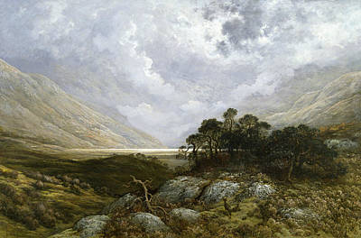 Landscape In Scotland Poster by Gustave Dore