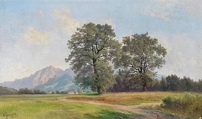 Landscape In The Salzburg Region Poster by MotionAge Designs