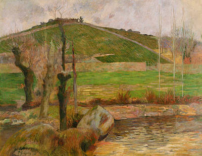 Landscape Near Pont Aven Poster by Paul Gauguin