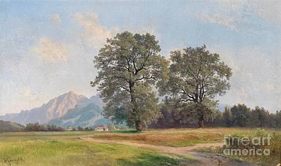 Landscape Near Salzburg Poster by Celestial Images